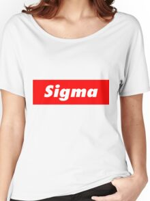 Supreme- Sigma Women's Relaxed Fit T-Shirt