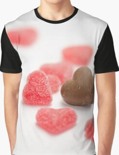 Valentine Hearts Graphic T-Shirt
