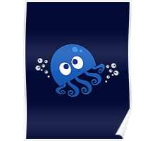 Bubbly Octopus Poster
