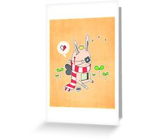 Bunny boy Greeting Card