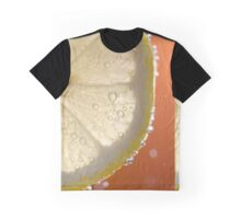 Bubbly Lemon - Orange Graphic T-Shirt