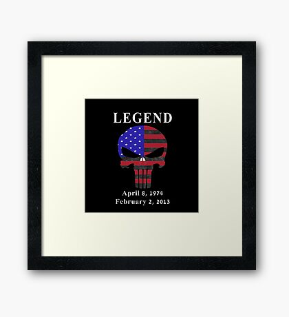 RIP Chris Kyle Memorial, the Legend Framed Print