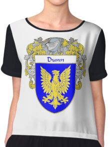 Dunn Coat of Arms/Family Crest Chiffon Top