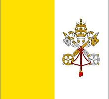 Vatican City Flag Stickers by Mark Podger