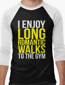 I Enjoy Long Romantic Walks To The Gym Men's Baseball ¾ T-Shirt