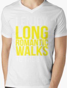 I Enjoy Long Romantic Walks To The Gym Mens V-Neck T-Shirt