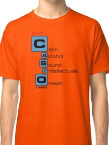 CASH - ALCOHOL - SOUND - INTELLECTUALS - OMELET Classic T-Shirt