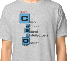 CASH - ALCOHOL - SOUND - INTELLECTUALS - OMELET Classic T-Shirt