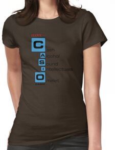 CASH - ALCOHOL - SOUND - INTELLECTUALS - OMELET Womens Fitted T-Shirt