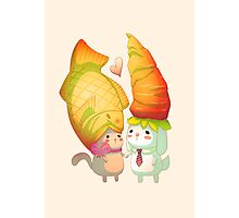 Taiyaki and carrots Photographic Print