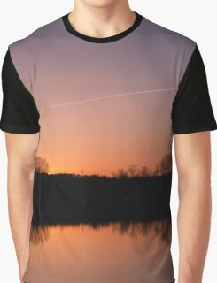 Sunset Over Lake Graphic T-Shirt