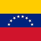 Venezuela Flag Stickers by Mark Podger