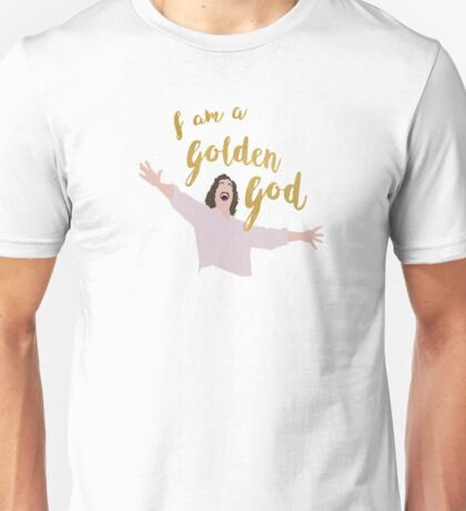 Golden God in White Unisex T-Shirt
