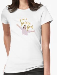 Golden God in White Womens Fitted T-Shirt