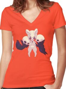 The last day Women's Fitted V-Neck T-Shirt