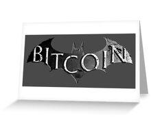 Batman Bitcoin Greeting Card