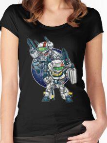 Robotech Skull Women's Fitted Scoop T-Shirt
