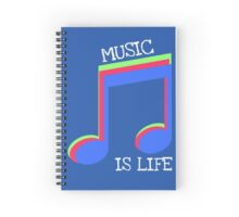 Music Is Life Spiral Notebook