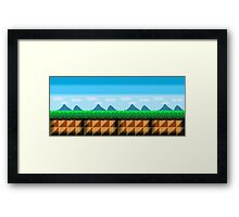 Pixel Art Scenic View Framed Print