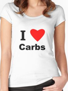 I Love Carbs Women's Fitted Scoop T-Shirt