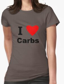 I Love Carbs Womens Fitted T-Shirt