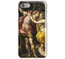 Vintage famous art - Hendrick De Clerck - Venus And Adonis iPhone Case/Skin