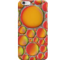 Green red and orange bubbles, abstract image. iPhone Case/Skin