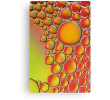 Green red and orange bubbles, abstract image. Canvas Print