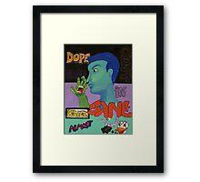 Graffiti Guy in Blue Framed Print