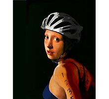Girl with Pearl Earring Update- Triathelete Photographic Print