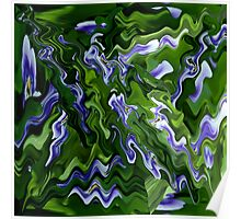 Abstract Pansy Poster