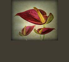 Red Exotic Flower Unisex T-Shirt