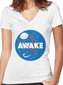 AWAKE Women's Fitted V-Neck T-Shirt