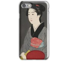 Vintage famous art - Hashiguchi Goyo - O-Nao With A Tray iPhone Case/Skin