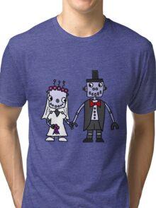 Cool Funky Robot Wedding Tri-blend T-Shirt
