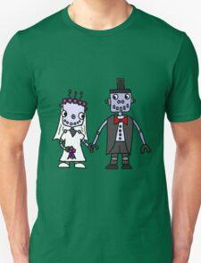 Cool Funky Robot Wedding T-Shirt