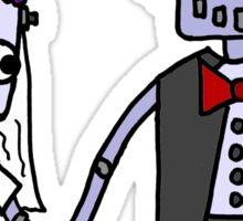 Cool Funky Robot Wedding Sticker