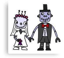 Cool Funky Robot Wedding Canvas Print