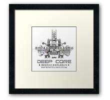 Deep Core Framed Print