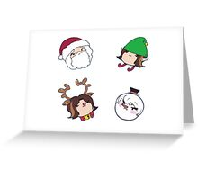 Game Grumps: Christmas Grumps Stickers Greeting Card