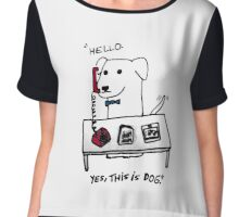 this is dog 2 Chiffon Top