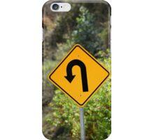 Sharp Left Curve Sign iPhone Case/Skin