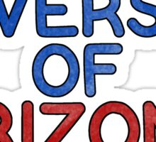 university of arizona college greek  Sticker