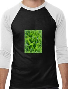 Lily of the valley ~ Mayflowers Men's Baseball ¾ T-Shirt