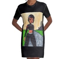 Mia at dusk Graphic T-Shirt Dress