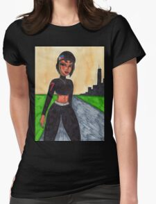 Mia at dusk Womens Fitted T-Shirt