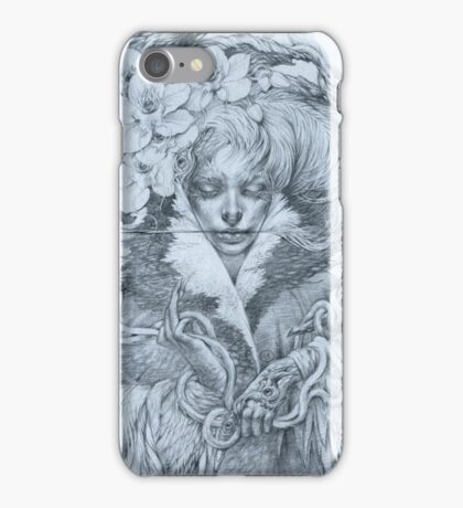 Fairy lady with snakes and orchids iPhone Case/Skin