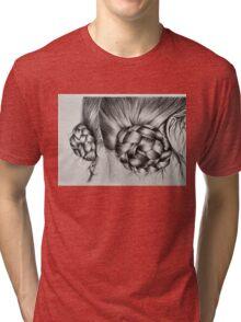 Braids in buns Tri-blend T-Shirt