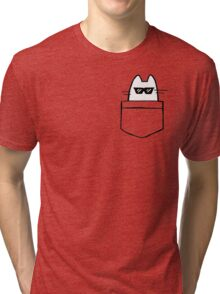 Cool Cat in Pocket Tri-blend T-Shirt