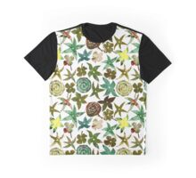 Green Pochoir Floral Graphic T-Shirt